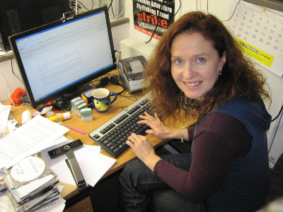 Aimee working on website 001-891