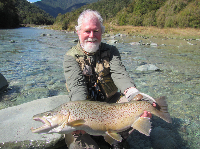 Trophy brown trout guided fly fishing nelson new zealand for New zealand trout fishing